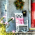 Rocking Chair With Pink Pillow by Susan Savad