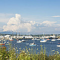 Rockland Harbor On The Coast Of Maine by Keith Webber Jr