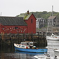 Rockport Inner Harbor With Lobster Fleet And Motif No.1 by Christiane Schulze Art And Photography