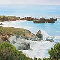 Rocks And Waves - California Coast by Daniel Dayley