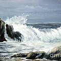 Rocks And Waves by Lynne Parker