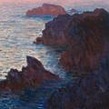 Rocks At Belle Ile by Claude Monet