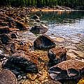 Rocks At Shore Of Georgian Bay by Elena Elisseeva