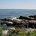 Rocks Below Portland Headlight Lighthouse 1 by Kathy Hutchins