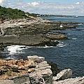 Rocks Below Portland Headlight Lighthouse 5 by Kathy Hutchins