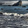Rocks In The Surf by Adam Jewell