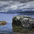 Rocks In The Water On A Lake In Acadia National Park by Randall Nyhof