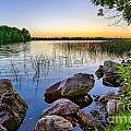 Rocks Near The Shore by Bryan Benson