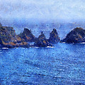 Rocks On Isle Of Guernsey by Bellesouth Studio