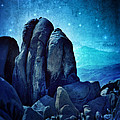 Rocky Cliff In Starlight by Jill Battaglia