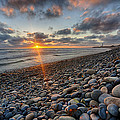 Rocky Coast Sunset by Peter Tellone