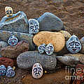 Rocky Faces In The Sand by David Smith