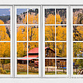Rocky Mountain Autumn Ranch White Window View by James BO Insogna