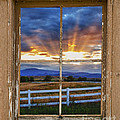 Rocky Mountain Country Beams Of Sunlight Rustic Window Frame by James BO Insogna