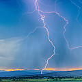 Rocky Mountain Foothills Lightning Strikes 2 Hdr by James BO Insogna