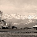 Rocky Mountain Lafayette Sepia Views by James BO  Insogna