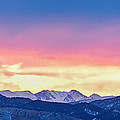 Rocky Mountain Sunset Clouds Burning Layers  Panorama by James BO Insogna