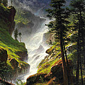 Rocky Mountain Waterfall by Albert Bierstadt