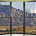 Rocky Mountains Flatirons With Snow Longs Peak Bay Window View by James BO  Insogna