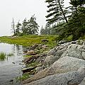 Rocky Shore By The Narrows To Mount Desert Island by Randall Nyhof