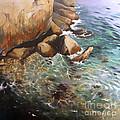Rocky Shore by Lin Petershagen