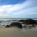 Rocky Shoreline At Spanish Bay by Joyce Dickens