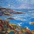 Rocky Shores Of Maine by Ellen Levinson