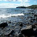 Rocky Shores Of Superior by Joshua Thompson