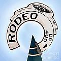 Rodeo Drive Sign Circagraph by Az Jackson