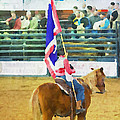 Rodeo Flag by Alice Gipson