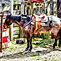 Rodeo Horse Three by Alice Gipson