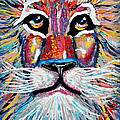 Rodney Abstract Lion by Barney Napolske