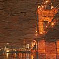Roebling Bridge Stone N Wood by Randall Branham