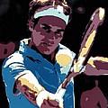 Roger Federer Portrait Art by Florian Rodarte