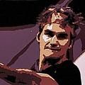 Roger Federer Poster Art by Florian Rodarte