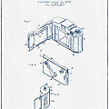 Roll Film Camera Patent From 1952- Blue Ink by Aged Pixel