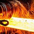 Rolling A Rail At A Steel Mill by Ria Novosti