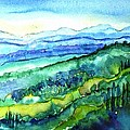 Rolling Tuscan Landscape by Trudi Doyle