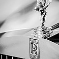 Rolls-royce Hood Ornament -782bw by Jill Reger