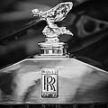 Rolls-royce Hood Ornament - Emblem -1068bw by Jill Reger