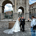 Roman Colosseum Bride And Groom by Mike Nellums