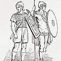 Roman Infantry Soldiers, After Figures On Trajans Column.  From The Imperial Bible Dictionary by Bridgeman Images