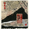 Roman Map Collage by Carol Leigh
