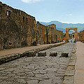 Roman Street In Pompeii by Alan Toepfer