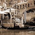 Romance At The Venetian Sepia Tones by Mary Lou Chmura