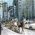 New York 5th Avenue Ride - Fine Art by Peter Potter
