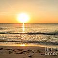 Romantic Ocean Swim At Sunrise by Zina Stromberg