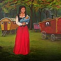 Romany Mother And Child by Lora Duguay