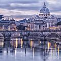 Rome And The River Tiber At Dusk by Sophie McAulay