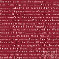 Rome In Words Red by Sabine Jacobs